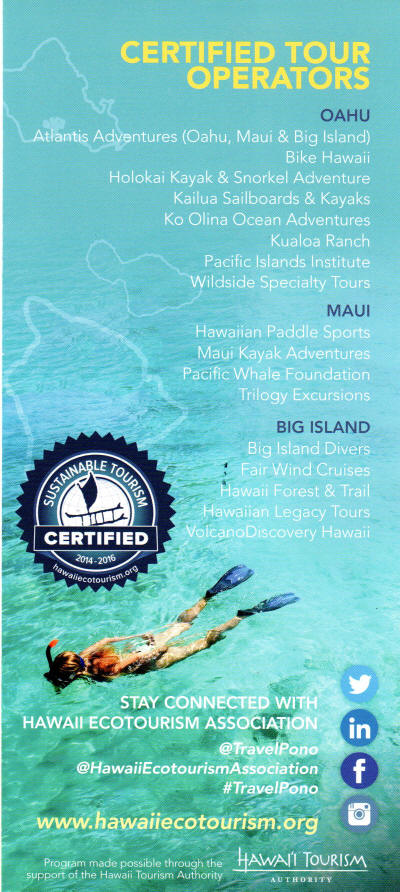 Hawaii Ecotourism Association Directory