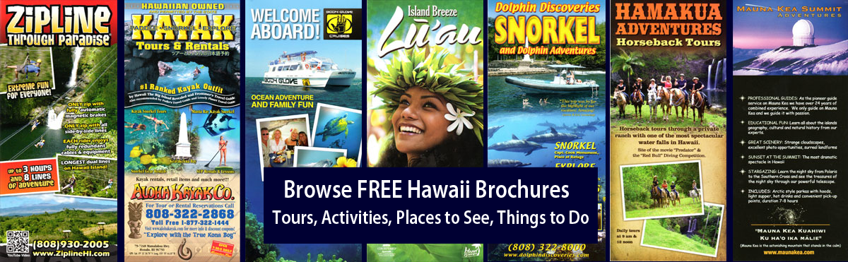 Browse FREE Brochures for all the Activities and Adventures Hawaii has to offer!
