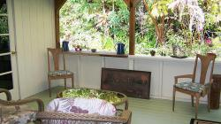 Kilauea Garden Cottage Back Porch